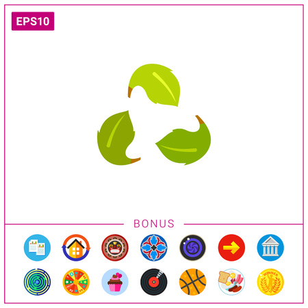 Green Recycle Sign as Ecology Concept Icon Vektoros illusztráció