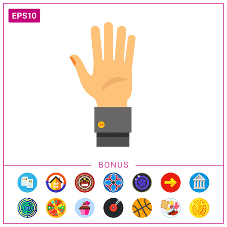 Hand Palm Icon Illustration