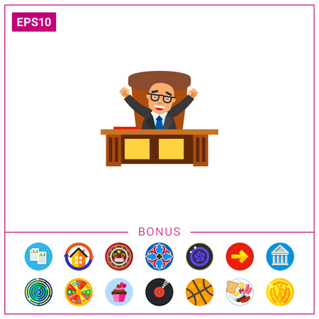 chief executive officer: Happy Boss Icon