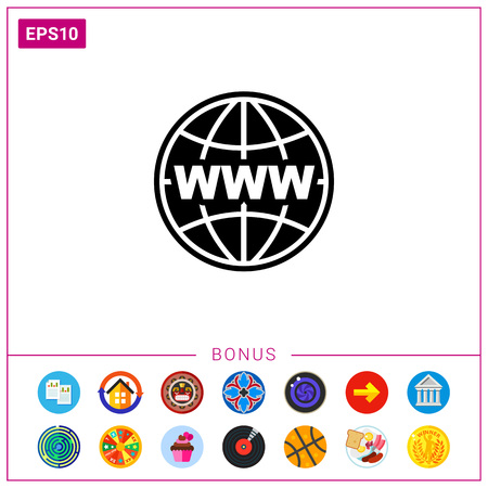 clicking: Image of Globe as Internet Concept Icon