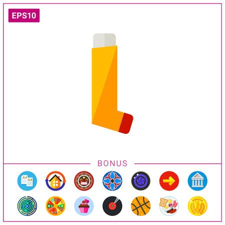 Inhaler flat icon