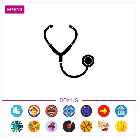 auscultation: Isolated Stethoscope Icon