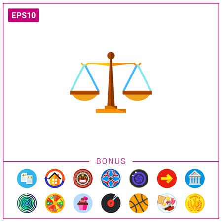 Justice weighing scales. Equilibrium, fairness, judging. Justice concept.