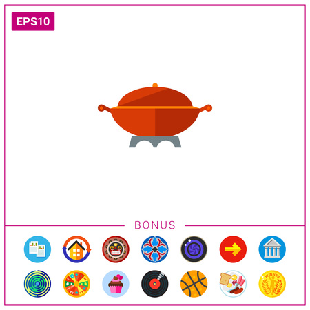 Large Cooking Pot Icon