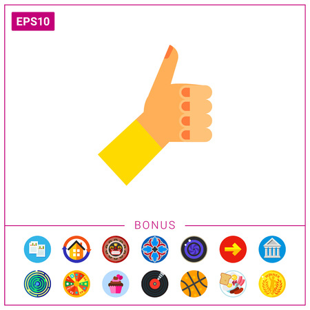 comunicacion no verbal: Left hand with thumb up. Showing, positive, nonverbal. Approval concept. Can be used for topics like gestures, nonverbal communication, management.