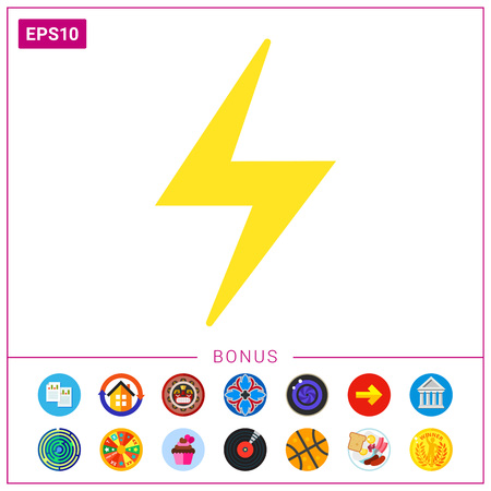 high voltage symbol: Lightning icon Illustration