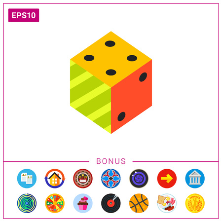 Illustration of 3d dice. Logic, science, education. Logic concept. Can be used for topics like education, science of logic, knowledge Hình minh hoạ