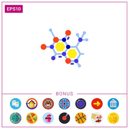 Molecular Model as Science Concept Icon Illustration