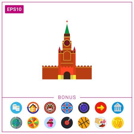 spasskaya: Moscow Kremlin building.