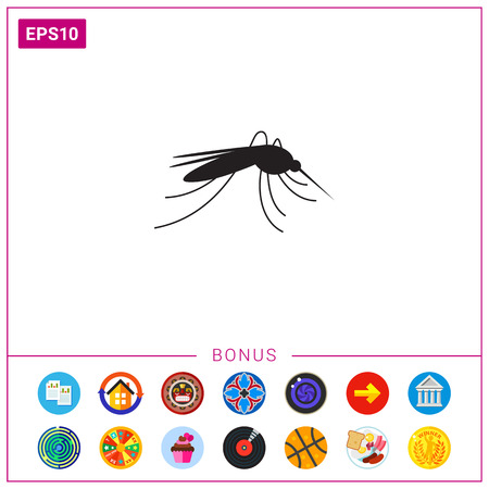 infectious disease: Mosquito icon Illustration