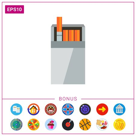 Open cigarette pack Illustration