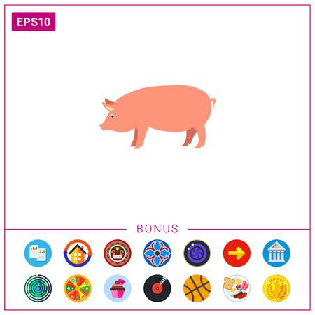 Pig icon Illustration