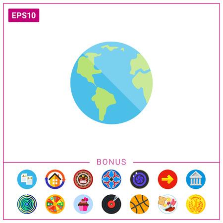 Planet Earth icon Illustration