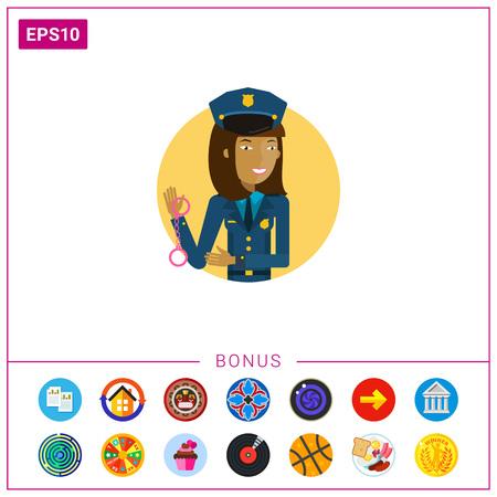 femme policier: Femme policier