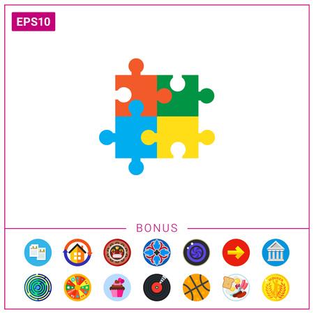 Puzzle elements Illustration