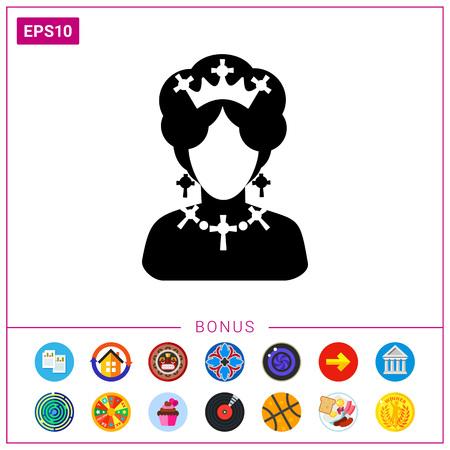 Icono de la reina de Inglaterra