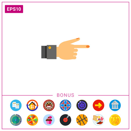 Showing Finger Icon Illustration