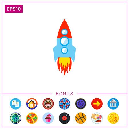 Space rocket.