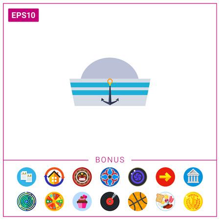 Sailor Cap Icon Vektorgrafik