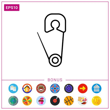 Safety pin icon.