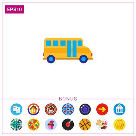 automobile door: School bus