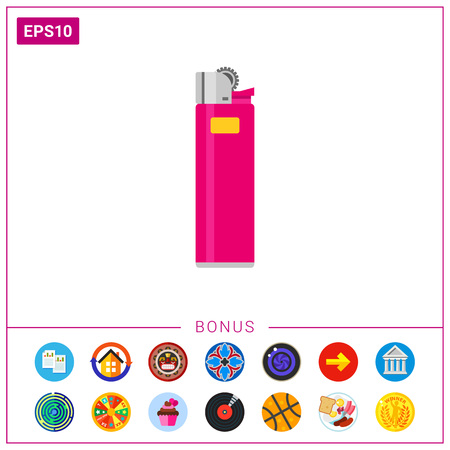 Cigarette lighter icon Ilustração