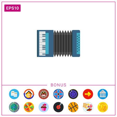 concertina: Classic accordion icon