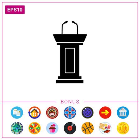 Debate simple icon Ilustrace