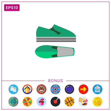 Modern summer shoes. Foot, style, unisex. Summer footwear concept. Can be used for topics like summer, vacation, footwear.