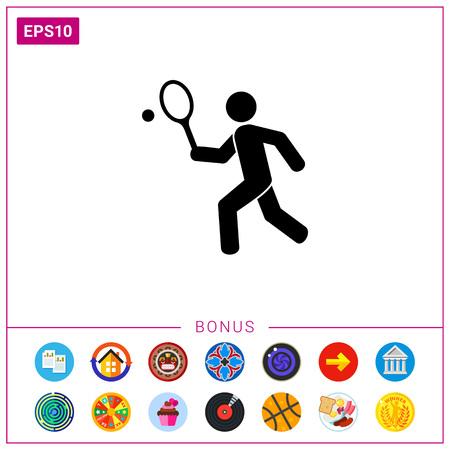 Tennis Concept Icon Illustration