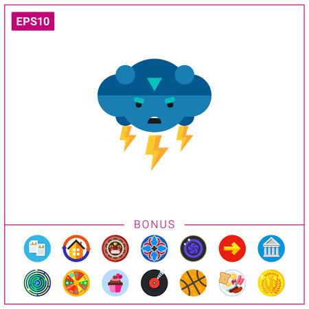 Thunder Vector Icon Illustration