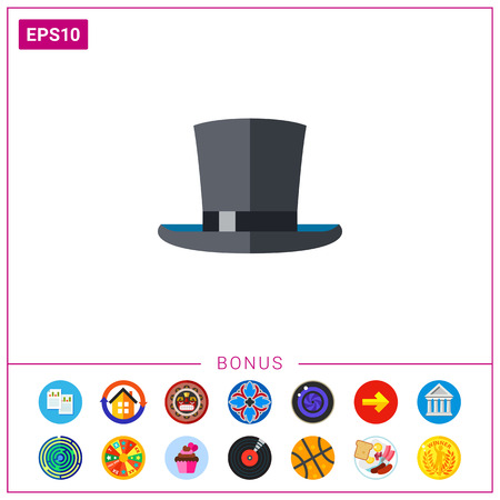 stovepipe hat: Top hat. Gentleman, magician, retro. Headwear concept. Can be used for topics like clothing, headwear, history.