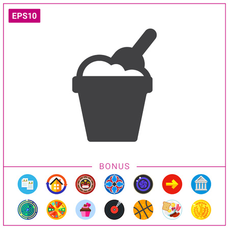 Toy bucket and scoop Illustration