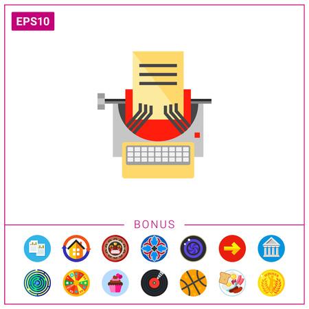Typewriter as Copywriting Concept Icon