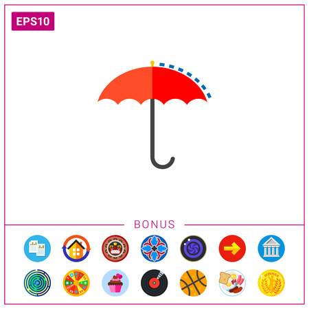 Umbrella as Meteorology Concept Icon Illustration