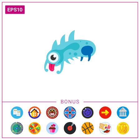 Virus Cartoon Character Icon 5