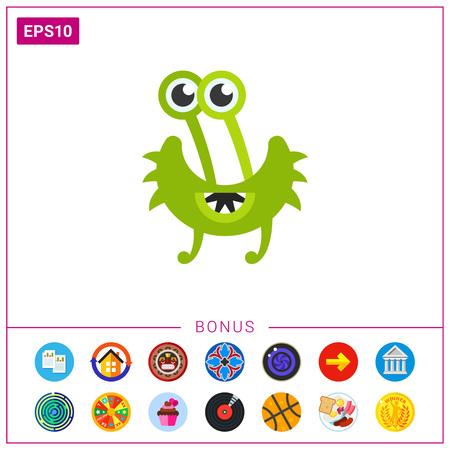 cilia: Virus Cartoon Character Icon