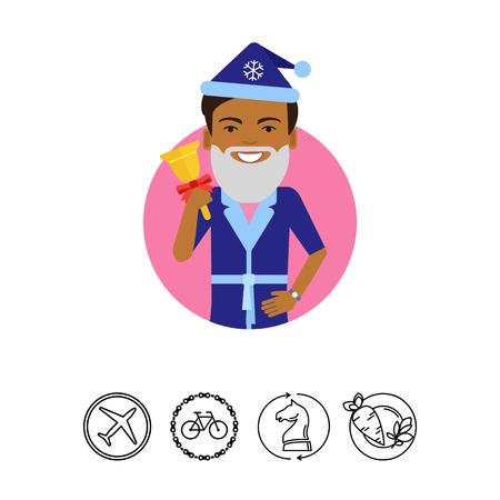African American man holding handbell