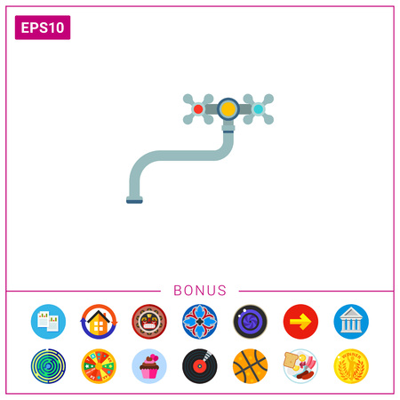 Water tap icon Stock Vector - 77695968