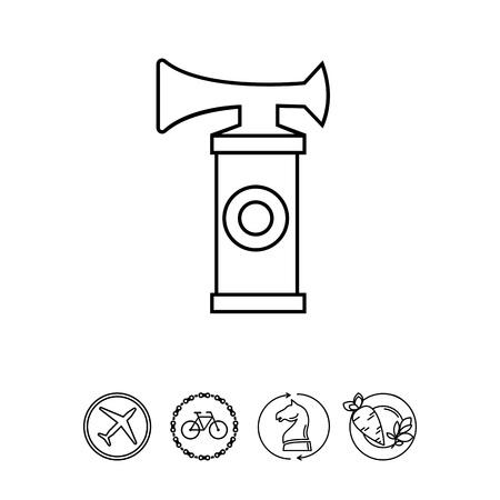 Air Horn Icône Banque d'images - 77701401