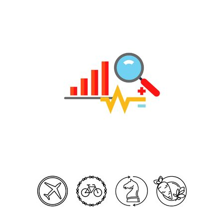 A Analysis Concept Icon with Graph Illustration
