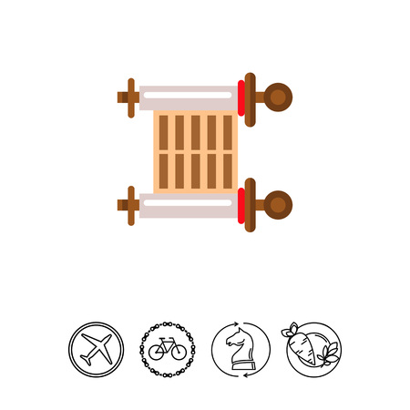 Ancient scroll icon