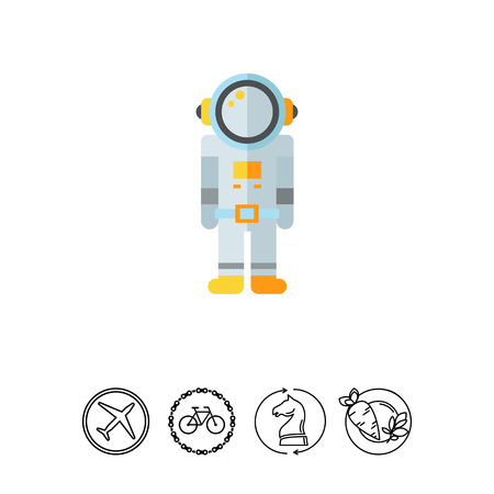 spacesuit: Multicolored vector icon of astronaut in spacesuit Stock Photo