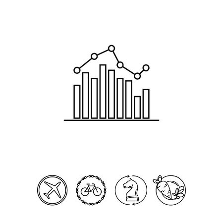 Bar chart with graph Illustration