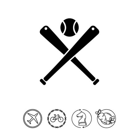 pitching: Baseball simple icon