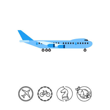 Big Plane Icon Illustration