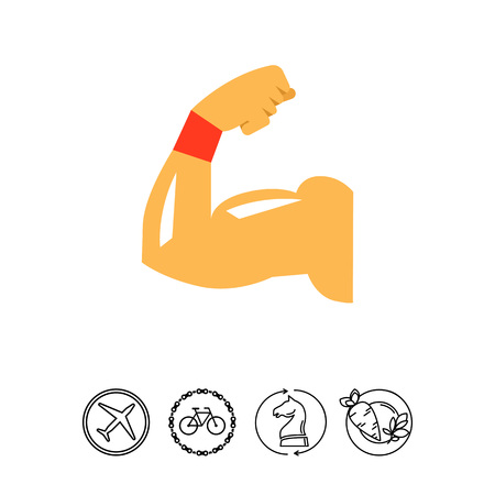 muscular control: Biceps muscle icon Illustration