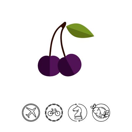 Bird cherry icon
