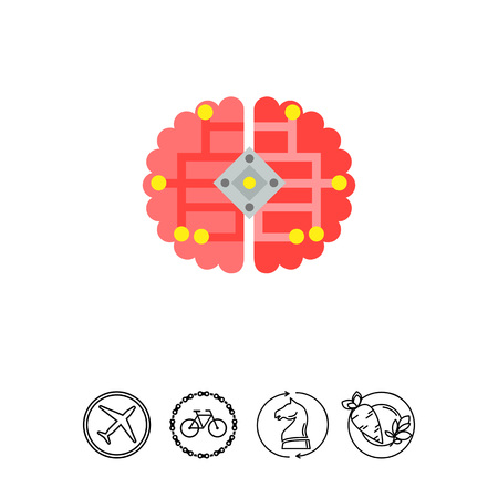 cybernetics: Brain as Cybernetics Concept Icon