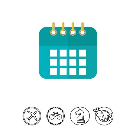 event planning: Calendar icon Illustration
